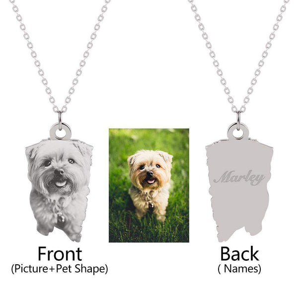 Pet Customized Pendants & Necklaces-Necklace-Pet Kisses