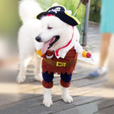 Pirate dog coat Cool Pet Cat Jacket Coat Winter Soft Sweater Clothing Cute Cosplay Costume Clothing ropa perro pequeno