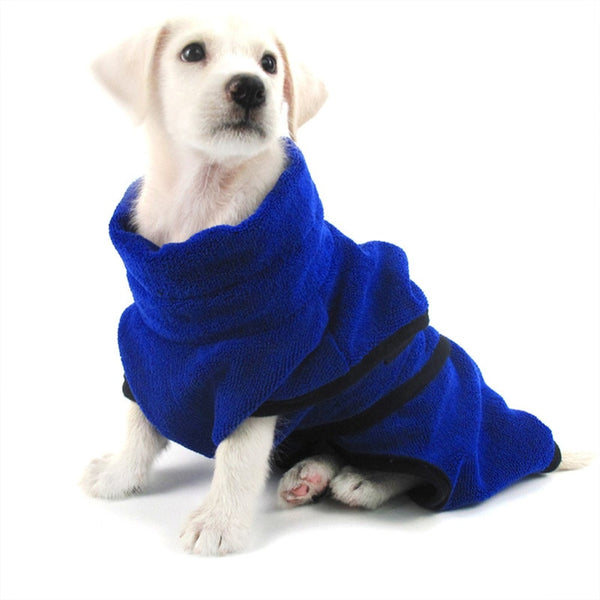 1Pc Dog Bathrobe Microfiber Quick Drying Towel with Adjustable Strap,Super Soft Fast Absorbing Water Bath Towel Dogs And Cats