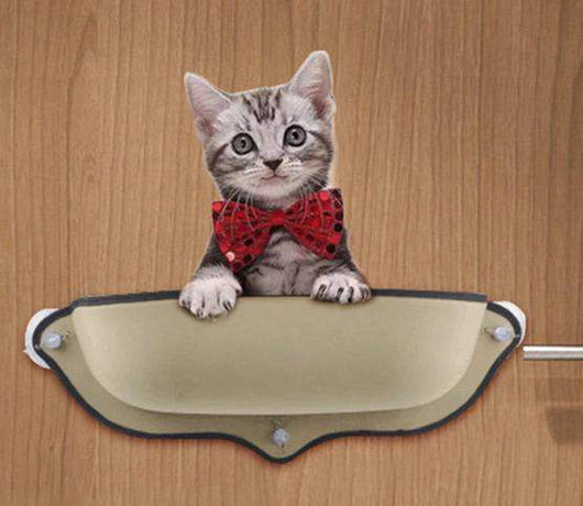 Removable Cat Window Mounted Bed-bed-khaki-68X38CM-Pet Kisses