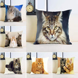 Single Side Printing Cat Pillow Cover-Pillow-Pet Kisses