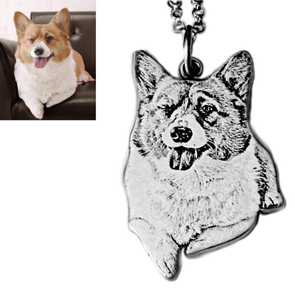 Sterling Silver Custom Pet Necklace-Necklace-Pet Kisses