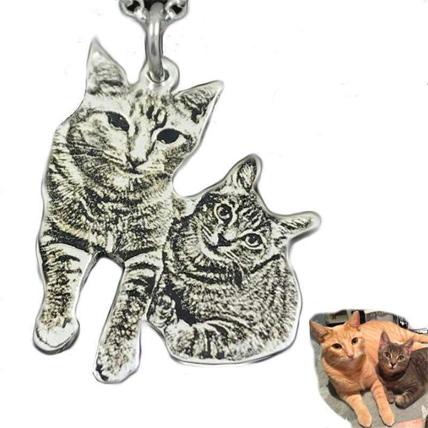 Sterling Silver Handmade Custom Pet Necklace-Necklace-Pet Kisses