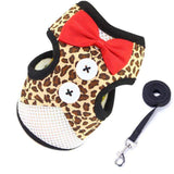 Tuxedo Bow Tie Jacket + Leash Set-leash-8-L-Pet Kisses
