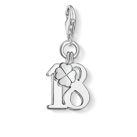 Thomas Sabo 18 Birthday Clover Charm 0473-001-12