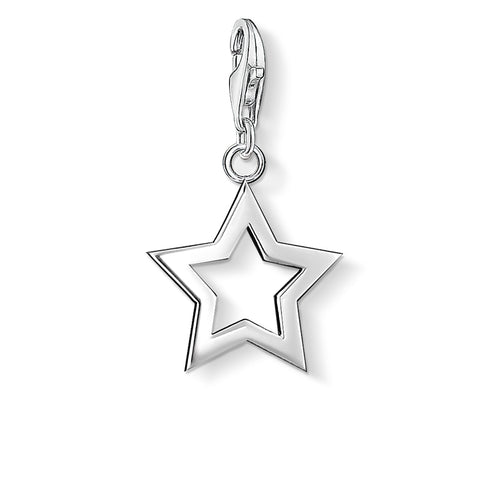 Thomas Sabo Open Star Silver Charm 0857-001-12