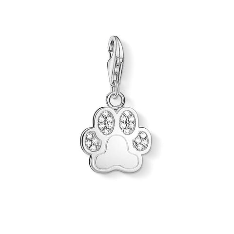 Thomas Sabo Dog Paw Zirconia Charm 1339-051-14