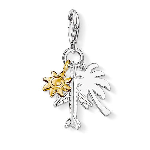 Charm Club Palm tree silver charm