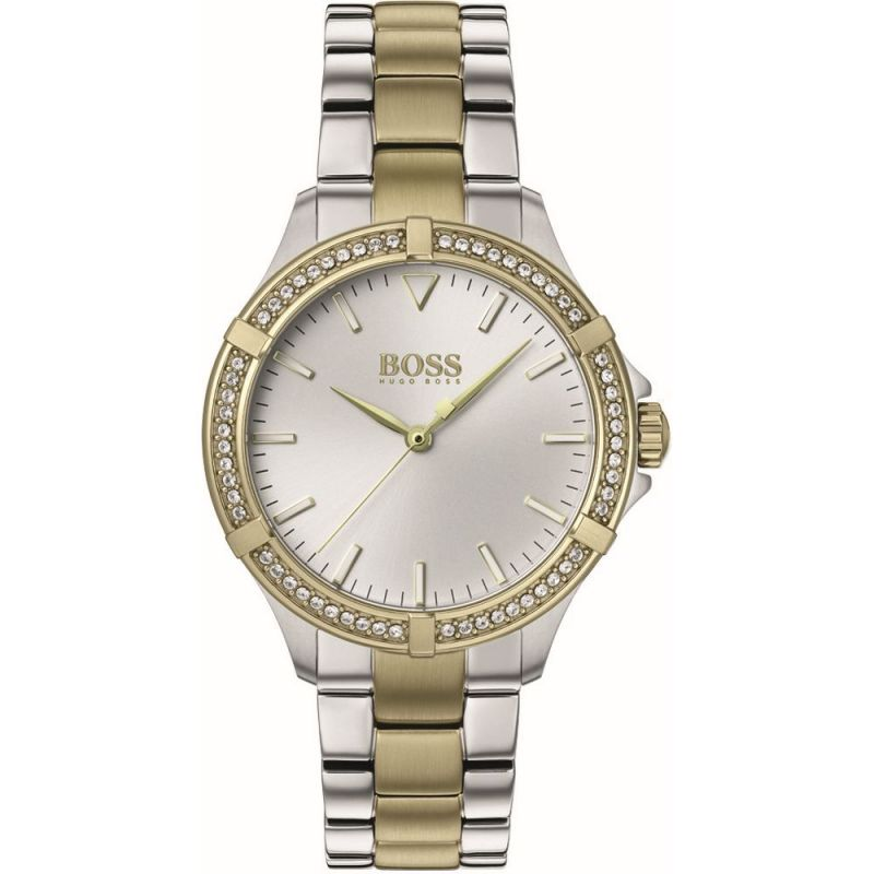 BOSS Mini Sport Siler & Gold Ladies Watch 1502467