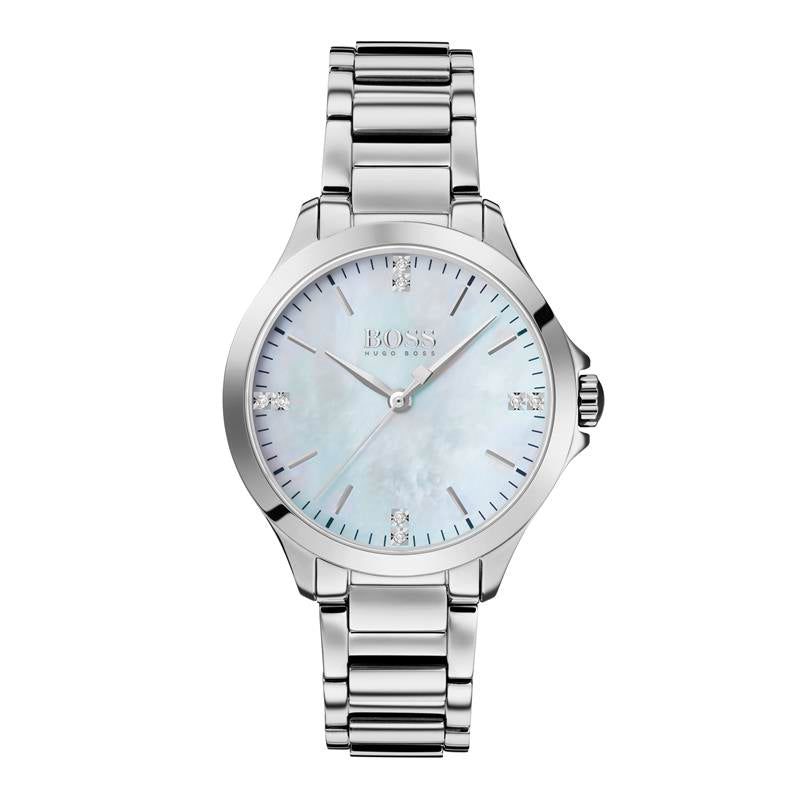 BOSS Diamonds For Her MOP Steel Watch 1502522
