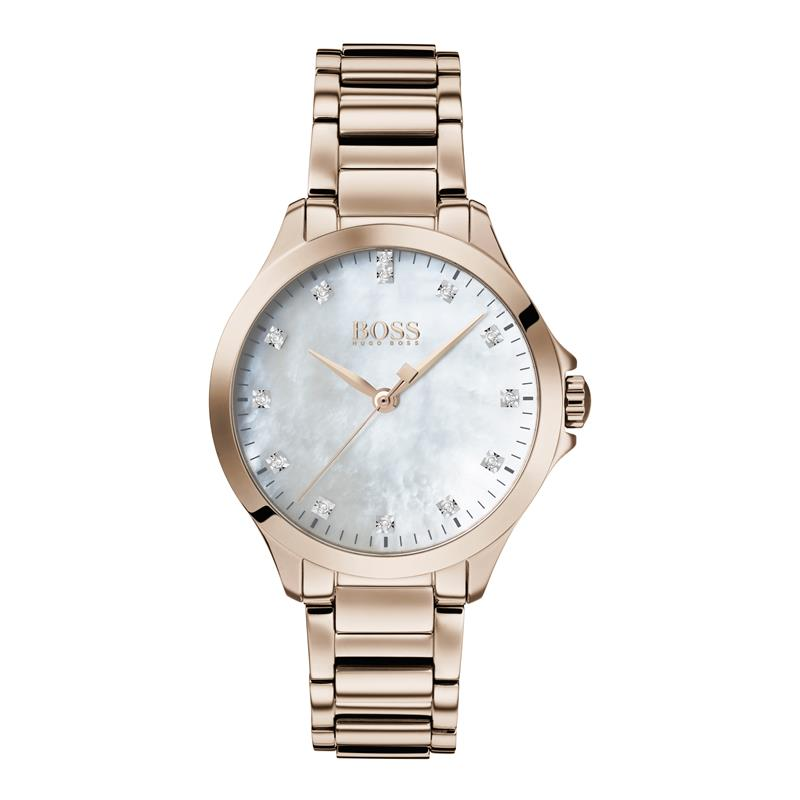 BOSS Diamonds For Her MOP Rose Gold Watch 1502523