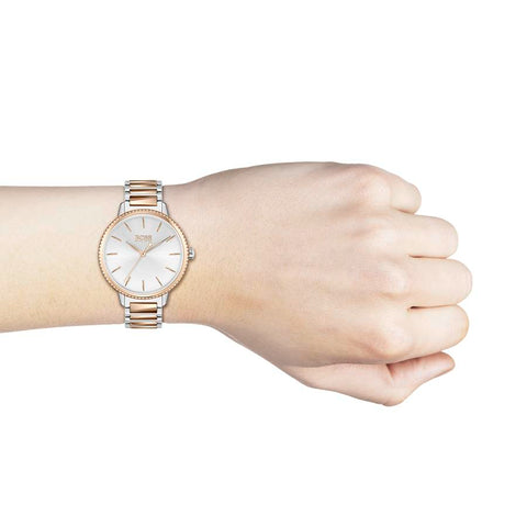 BOSS Ladies Signature Steel & Rose Gold Watch 1502567