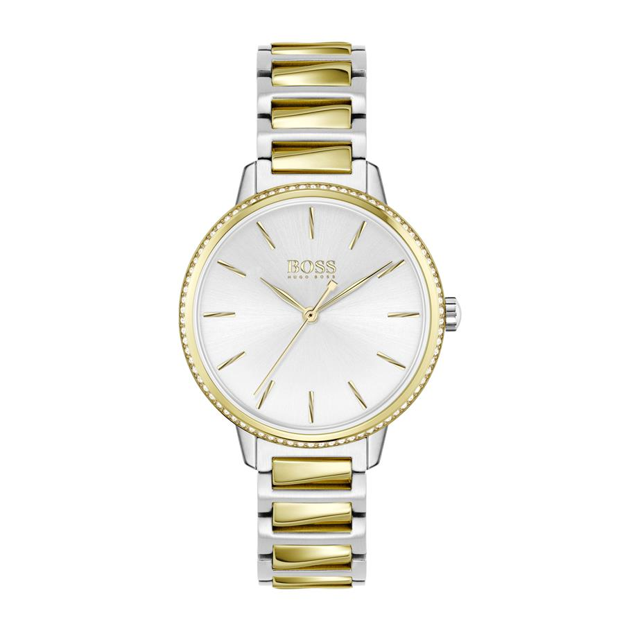 BOSS Ladies Signature Steel & Gold Watch 1502568