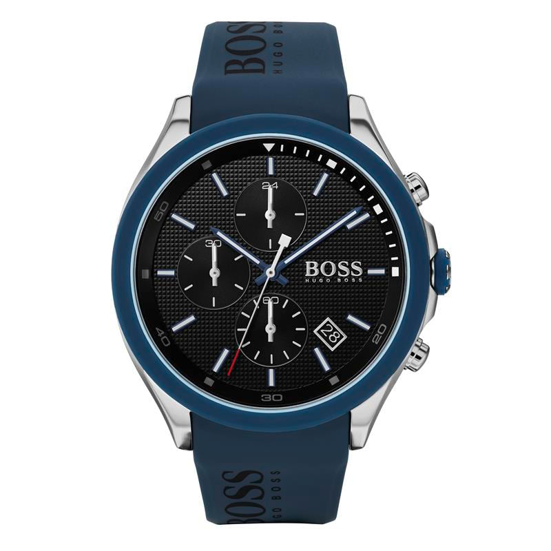 BOSS Gents Velocity Blue Silicone Watch 1513717