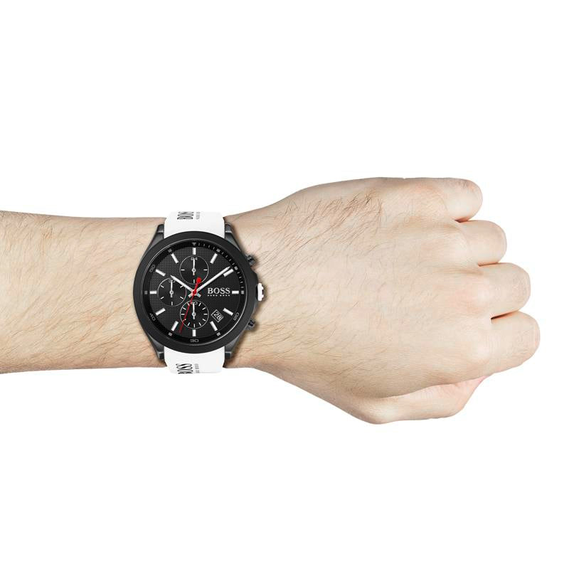 BOSS Gents Velocity White Silicone Watch 1513718