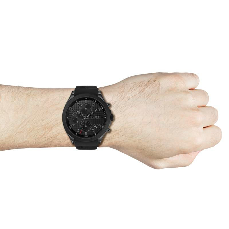 BOSS Gents Velocity Black Silicone Watch 1513720