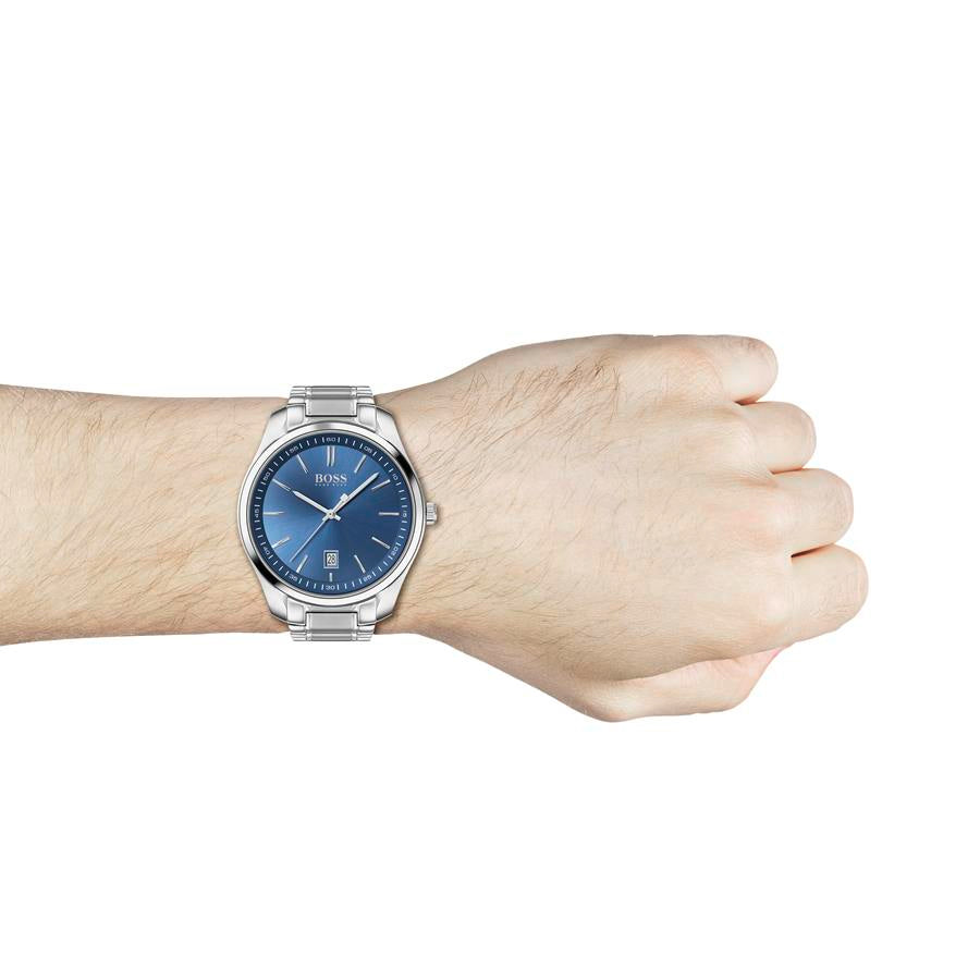 BOSS Gents Blue Dial Steel Watch 1513731