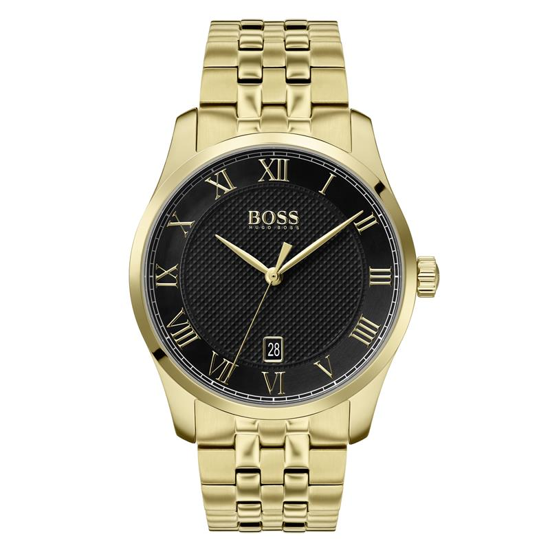 BOSS Gents Master Black Gold Watch 1513739