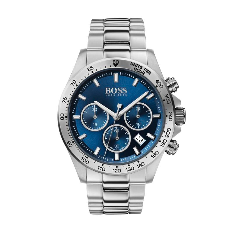 BOSS Gents Hero Blue Steel Bracelet Watch 1513755