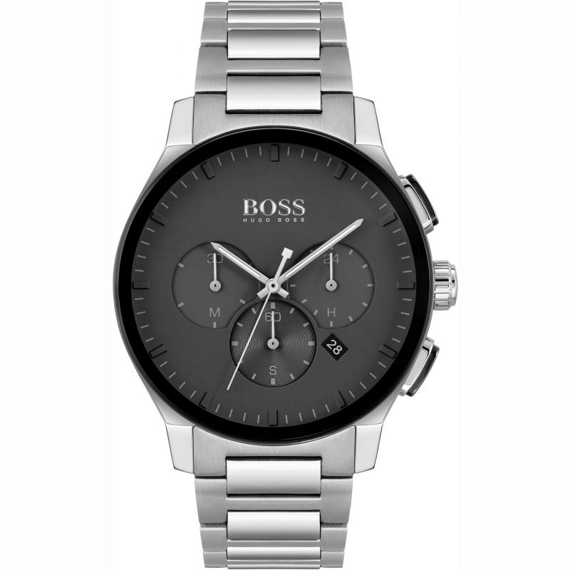 BOSS Peak Gents Black Dial Chronograph Watch 1513762