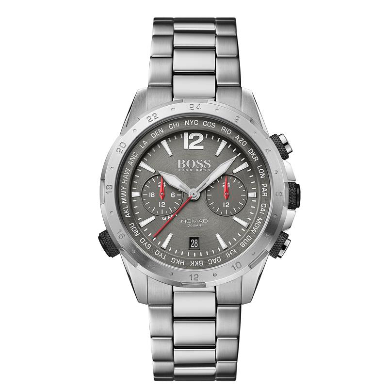 BOSS Gents Nomad Grey Steel Bracelet Watch 1513774