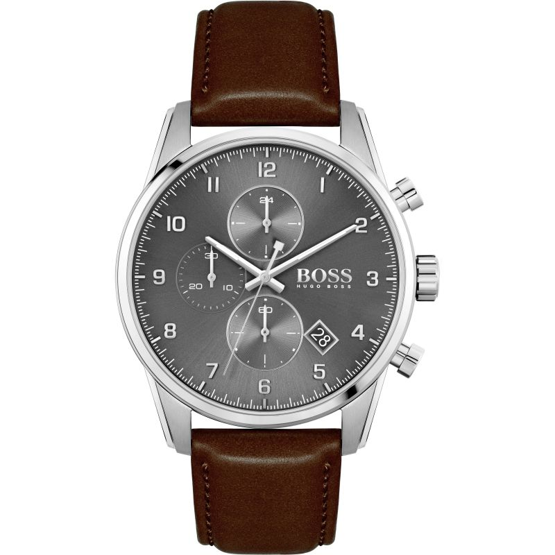 BOSS Skymaster Leather Strap Gents Watch 1513787