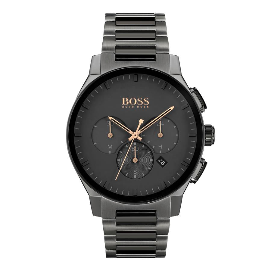 BOSS Gents Black Steel Watch 1513814