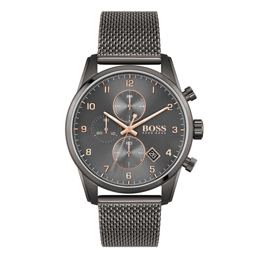BOSS Gents Skymaster Grey Chronograph Watch 1513837