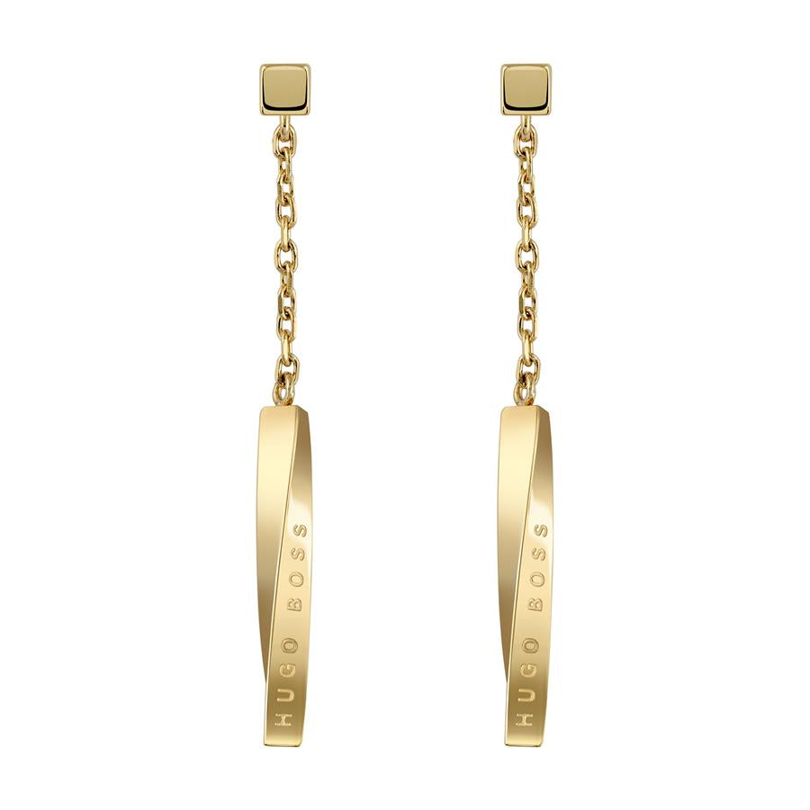BOSS Ladies Signature Gold Earrings 1580009