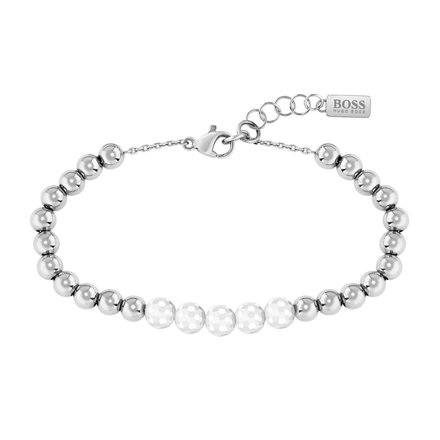 BOSS Ladies Beads Collection Silver Bracelet 1580023