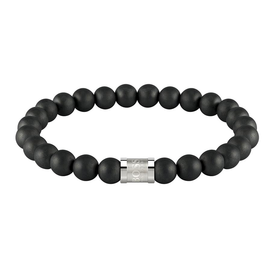 BOSS Gents Onix Beads For Him Bracelet 1580042M