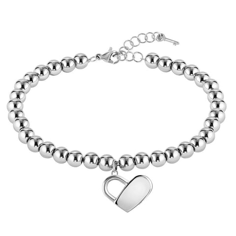 BOSS Ladies Beads Collection Silver Bracelet 1580075