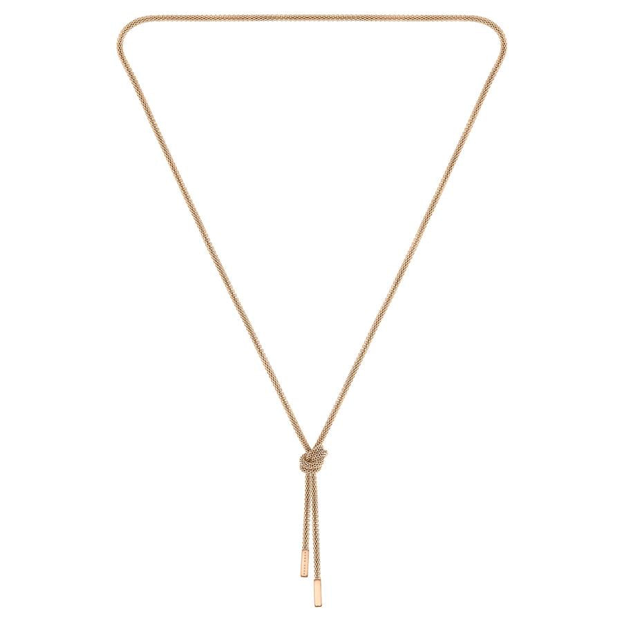 BOSS Ladies Rosette Gold Necklace 1580083