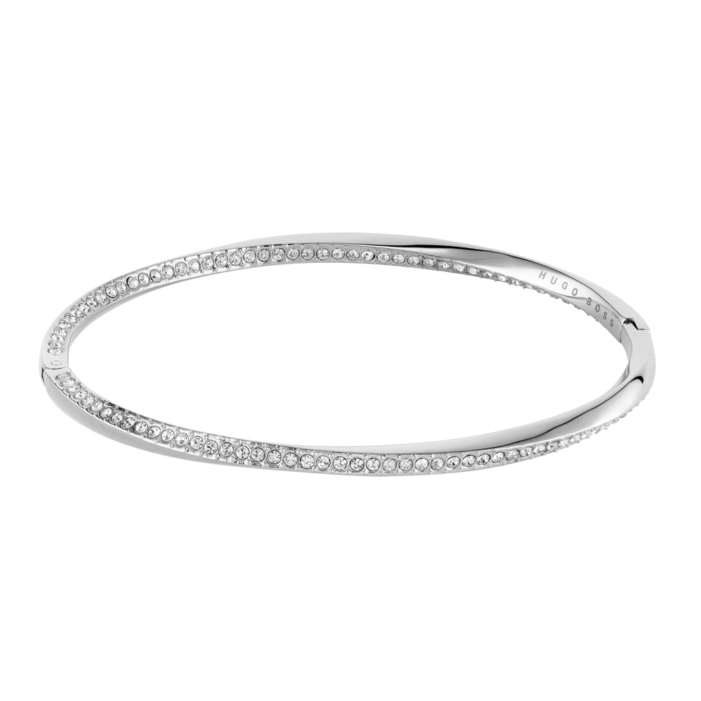 BOSS Signature Silver Bangle Swarovski 1580129M