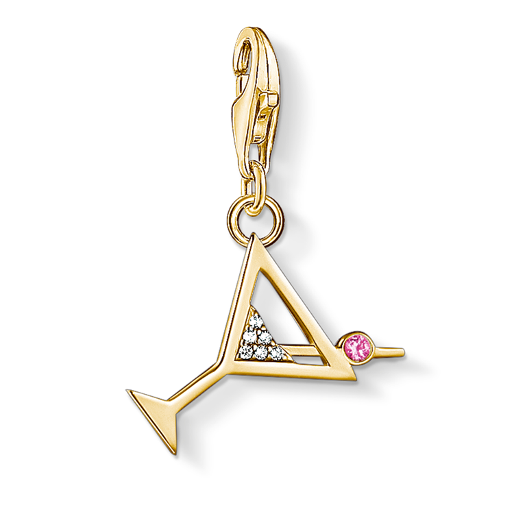 Thomas Sabo Gold Martini Glass Charm