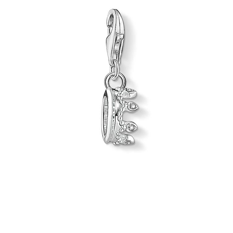 Thomas Sabo Silver Crown Charm Zirconia 1796-051-14
