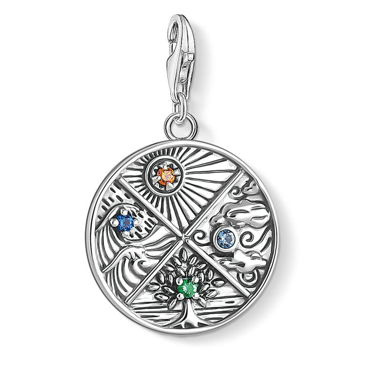 Thomas Sabo 4 Elements Coin Silver Charm 1814-945-7