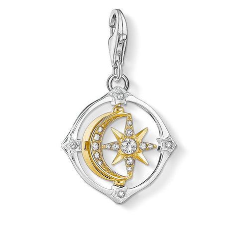 Thomas Sabo Moon & Star Charm Zirconia 1815-414-7