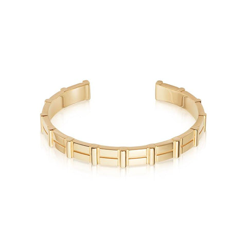 Links of London Brutalist Gold Cuff Bracelet
