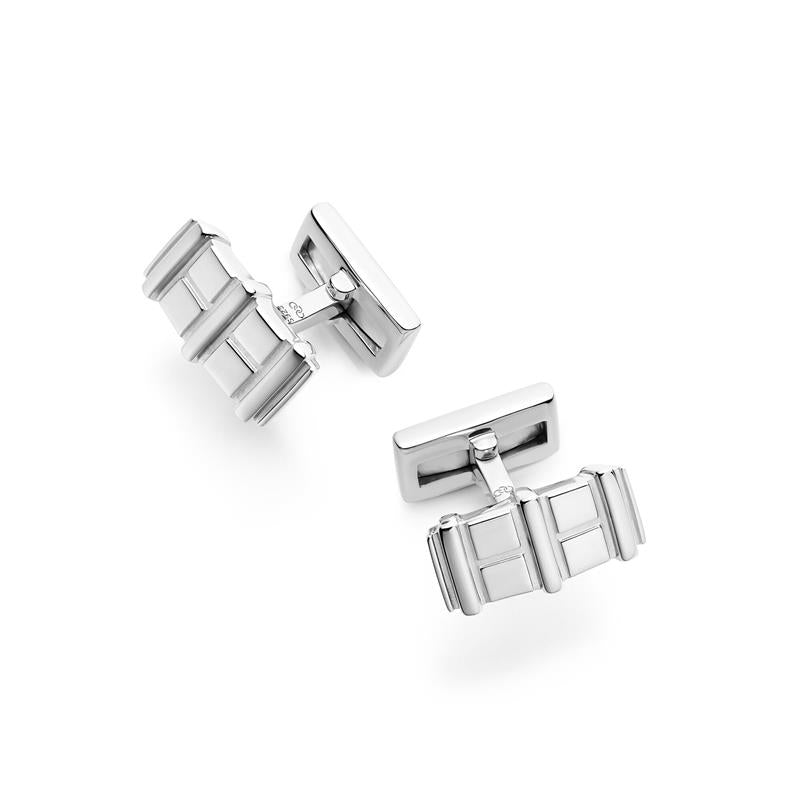 Links of London Brutalist Silver Bar Cufflinks