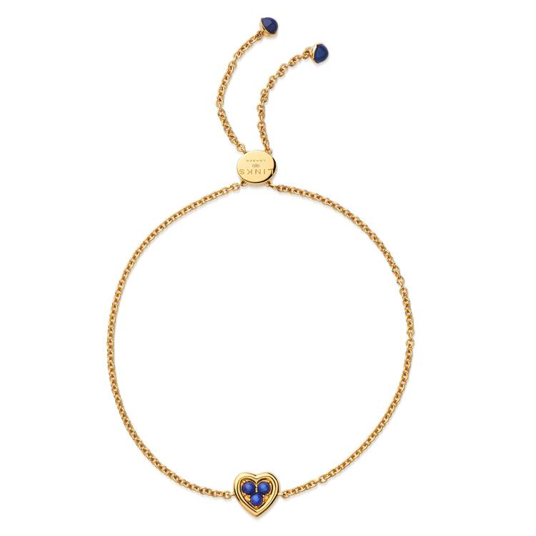 Links of London Heart Gold Bracelet Lapis 5010.4236