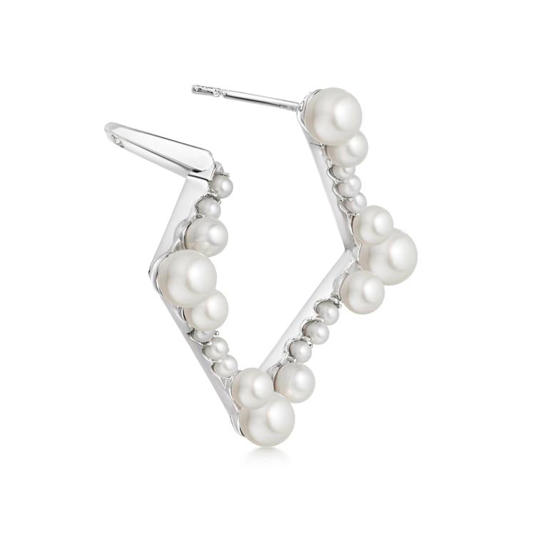 Links of London Orbs Square Pearl Earrings 5040.3374