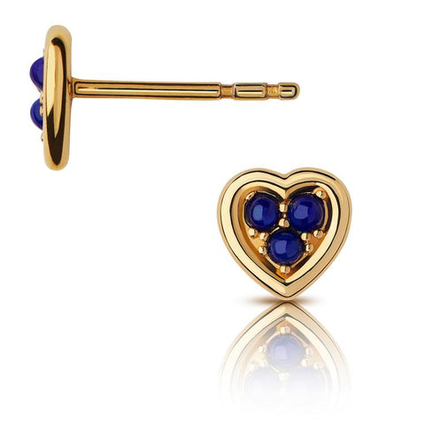Links of London Heart Stud Earrings Lapis 5040.4136