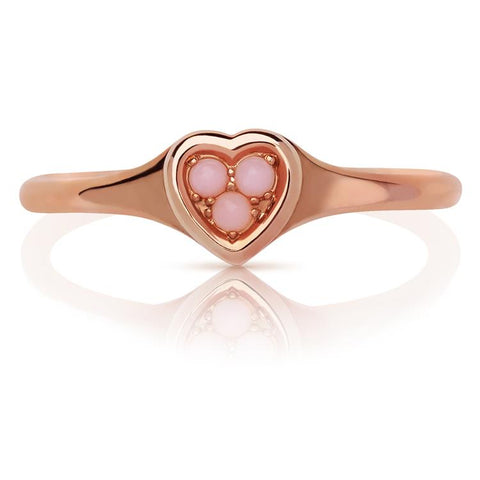 Links of London Heart Ring Pink Opal 5045.7662-3