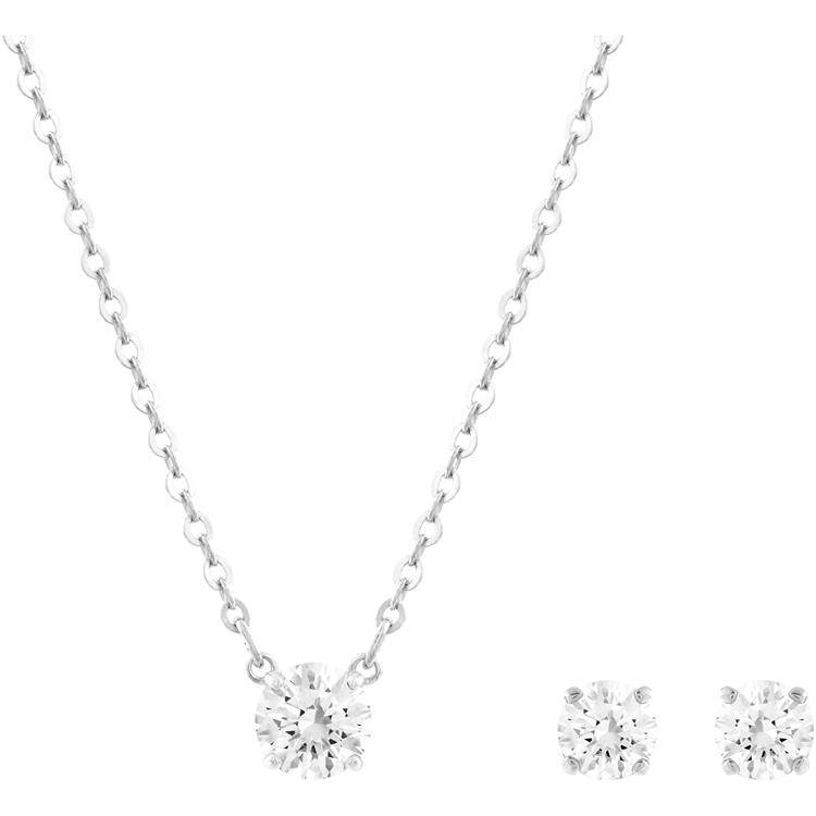 Swarovski Attract Round Necklace Earring Set 5113468