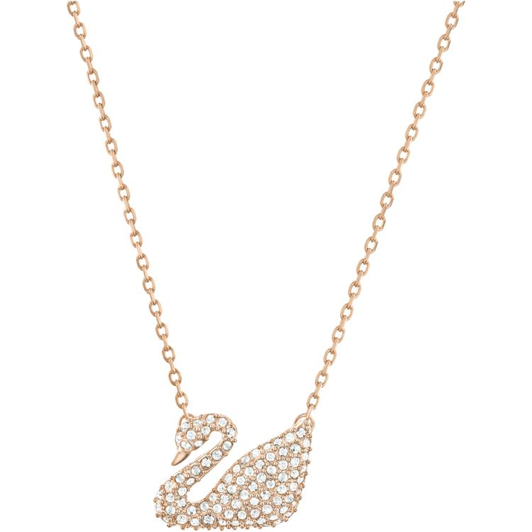 Swarovski Swan White Rose Gold Necklace 5121597
