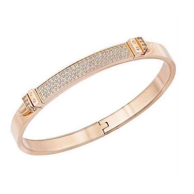 Swarovski Distinc Crystal Pavé Bangle Rose Gold