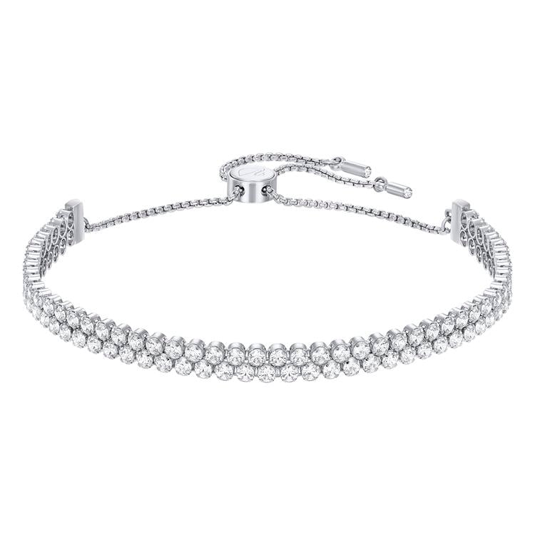 Swarovski Subtle White Double Row Bracelet 5221397