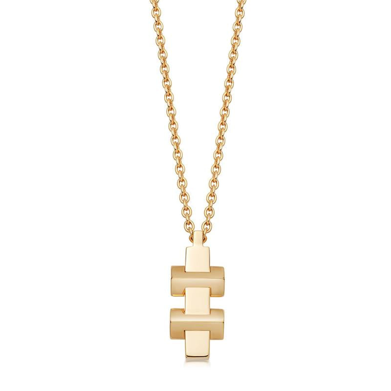 Links of London Brutalist Gold Block Necklace 5224.0342