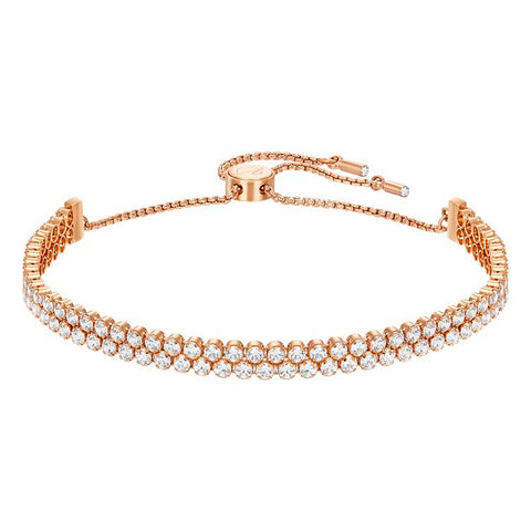 Swarovski Subtle Double Row Rose Gold Bracelet 5224182